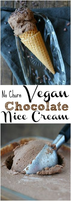 The best Vegan chocolate nice cream you will ever eat! No churn and few ingredients | gardeninthekitchen.com
