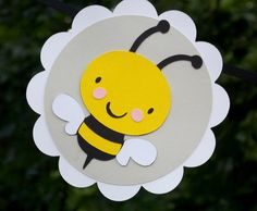 Bumble Bee Happy Birthday Banner ... yellow by APaperPlayground, $24.50