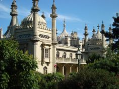 Royal Pavilion. Brighton, England- I used to work on the other side of these trees in a little alleyway no one knows exists
