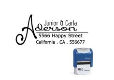 Custom Personalized Return Address, family, love ,couple, calligraphy, for gift ,wedding, event, cute, monogram Self Inking Stamp  SIA33 on Etsy, $15.00