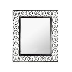 Swirling Iron Mirror   dotandbo.com