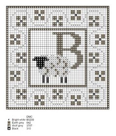 Monograms to embroider in cross stitch | Cross Stitch Cross-Stitch Cross-Punto-十字绣-Punto Croce Kreuzstitch-Point-of-Croix вышивк
