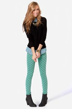 ok, I cave... these mint polka dot pants are making me excited for Spring!