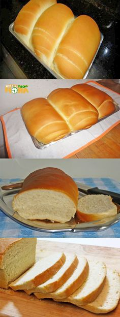 Good Food, Yummy Food, Portuguese Recipes, Dinner Rolls, Bread Baking, Hot Dog Buns, Finger Foods, Bread Recipes, Food And Drink