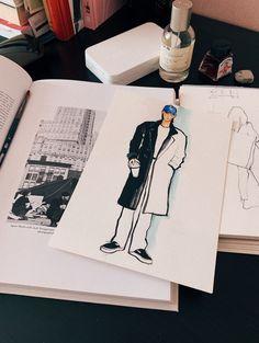 My sketch of street style look
