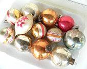 Vintage Glass Ornaments Pastel Shabby Chic. $34.00, via Etsy.