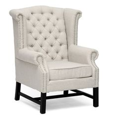 Baxton Studio Sussex Beige Linen Club Chair (Set of 2)