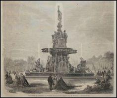 GRAVURE-EXPOSITION-LONDON-FONTAINE-Antoine-Durenne-1862