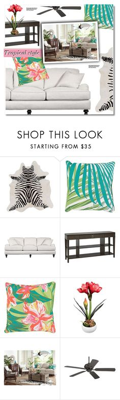 """""""Tropical Style-CONTEST!"""" by paculi ❤ liked on Polyvore featuring interior, interiors, interior design, home, home decor, interior decorating, Surya, Hedi Slimane, Home and decor"""
