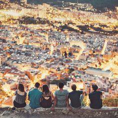 Barcelona at night, Spain