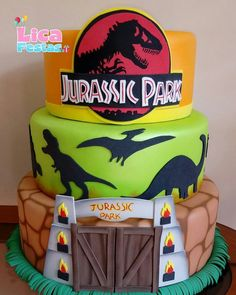 Jurassic Park Lego, Jurassic World Cake, Jurassic Park Party, Birthday Party At Park, 4th Birthday Parties, Boy Birthday, Birthday Ideas, Dinosaur Birthday Cakes, Dinosaur Party