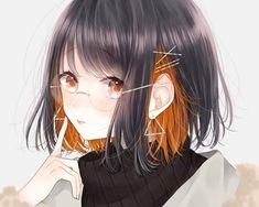 Anime Angel Girl, Cool Anime Girl, Pretty Anime Girl, Beautiful Anime Girl, Kawaii Anime Girl, Anime Art Girl, Anime Couples Drawings, Anime Girl Drawings, Pixiv Fantasia