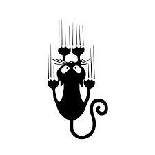 Pegatina de vinilo con diseño de gato, bonita y divertida caricatura, 9x18CM, pegatinas decorativas clásicas, C6 1174 negro/plateado|sticker notebook|sticker motorsticker booklet - AliExpress Car Bumper Stickers, Funny Stickers, Car Decals, Vinyl Decals, Wall Sticker, Motorcycle Stickers, Design Your Own Stickers, Patterned Vinyl, Popular Anime