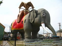 Famous Lucy the Elephant  In Margate, NJ, near Atlantic City.