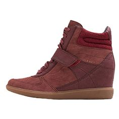 Schöne Sneaker mit Keilabsatz in Rot von Esprit.