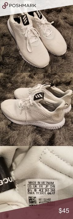 huge discount b20f8 088a7 Adidas Alphabounce Women s Running Shoe Sz 9.5 Adidas Alphabounce Running  Shoe Women s Size 9.5 White Rubber