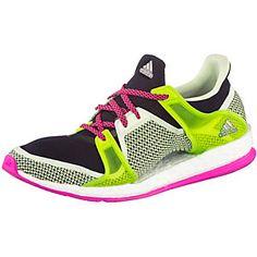 <title>adidas Pure Boost X TR W Fitnessschuhe Damen limette/schwarz/pink 42 im Online Shop von SportScheck kaufen</title>