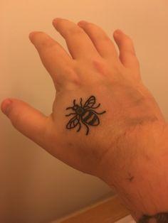 Manchester Bee Richard Von Long @ Sacred Art Tattoo Manchester UK
