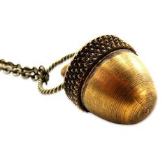 Handmade Gifts | Independent Design | Vintage Goods Secret Acorn Locket Necklace - Best Sellers