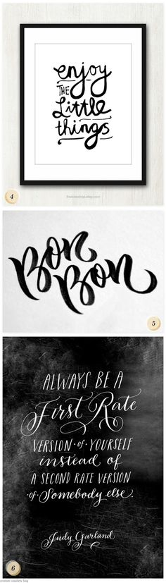 Pinterest Picks: A Thing ForHand-Lettering - Home - Creature Comforts - daily inspiration, style, diy projects + freebies
