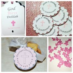 First Communion favors you can make your own favors and put these cute communion favor tags on them to give a personalized touch etsy.com/shop/thecreativecapone