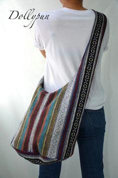 Nepali hobo bohemian hippie style cross body bag, Shoulder, Messenger, Monk bag, Handbag, Purse PNP6266 on Etsy, $12.98