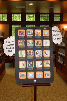 iPhone display for reading program: great for displaying all of our library resources as apps