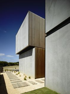 massivhaus australien beton eingang zusammen verbunden