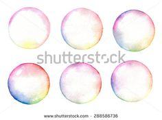 Stock Images similar to ID 97035203 - watercolor bubbles illustration
