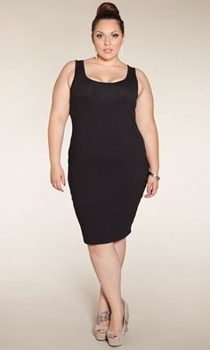Plus Size Black Slip Dress at www.curvaliciousclothes.com Sizes 1X-5X #plussize #LBD #bbw #curvy #fashion Feel like showing off your curves? Wear Kayla alone! Cinch in your waist with a belt for extra va-va-voom. Kayla also looks fantastic layered with cardigans and shrugs or even worn under a tee or top!