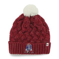 5fac0884d46 New England Patriots Women s 47 Brand Red Fiona Cuff Knit Hat New England  Patriots Merchandise