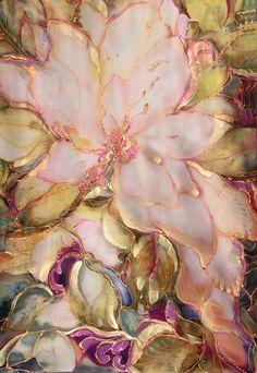 Peach #eaudeMagnolia Silk Tapestry by silkartcreations.net