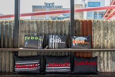 Lekker cushions with cool Jozi catch phrases on them, cushions available at iiilovelocal.