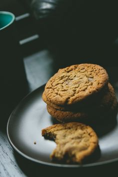 Chewy Ginger Molasses Cookies from A Thought For Food - #baking #dessert #recipe