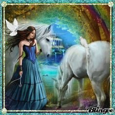 Beautiful Fantasy Fairy Pictures | Fantasy and Horses - ~Our most beautiful Blingees~