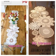 DIY Projects Pinterest | pinterest inspired project- lace doily runner | DIY