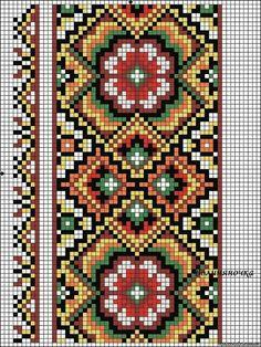 "Photo from album ""сорочки"" on Yandex. Beaded Cross Stitch, Cross Stitch Borders, Cross Stitch Flowers, Cross Stitch Charts, Cross Stitch Designs, Cross Stitching, Cross Stitch Embroidery, Cross Stitch Patterns, Tapestry Crochet Patterns"