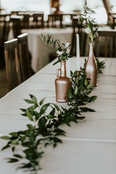 Wedding Table decoration, with ruscus, olives, tulips, roses