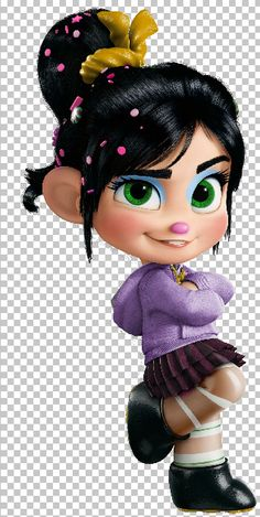 This is Charlotte, age Powers: none. She is Vannellope's long lost sister. Coloring Pages For Boys, Coloring Books, Disney Pixar Movies, Disney Characters, Vanellope Y Ralph, Vanellope Von Schweetz, Disney Princess Art, Wreck It Ralph, Children's Picture Books