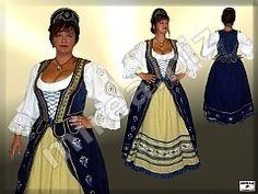 Dámsky šľachtický barokový kostým