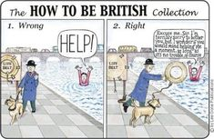 How to be british.