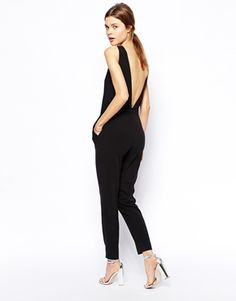 ASOS Jumpsuit With Plunge Back- Gorgeous back detail, I would add a chain waist belt to show off my waist. http://asos.to/1yRGuXZ