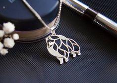 Pomeranian necklace pendant  pomeranian jewelry  от ArtDogJewelry