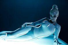 Very tasteful photos of Beau Garrett in her all white and tight Tron gear as Gem and a Serinda Swan pic or two too. Daft Punk, Beau Garrett, Science Fiction, Serinda Swan, Beach Boys, Pin Up, Arte Cyberpunk, Cyberpunk City, Amarillis