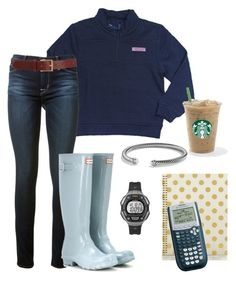 """Premed life"" by soccerstreak on Polyvore featuring Vineyard Vines, Hudson, Hunter, David Yurman, Timex, Barneys New York and Kate Spade"