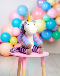 Unicorn Toy Free Knitting Pattern