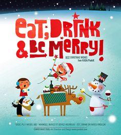 christmas card by Kasia Kaczmarek www.punktk.com #card