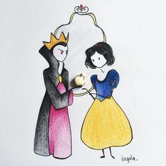 Un'orecchino è la mela avvelenata di Biancaneve by Virginia Di Giorgio