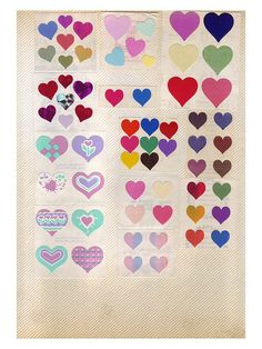 80's Vintage Heart Stickers