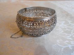 WHITING & DAVIS Signed Vintage Filigree Hinged by OnTheMarkVintage